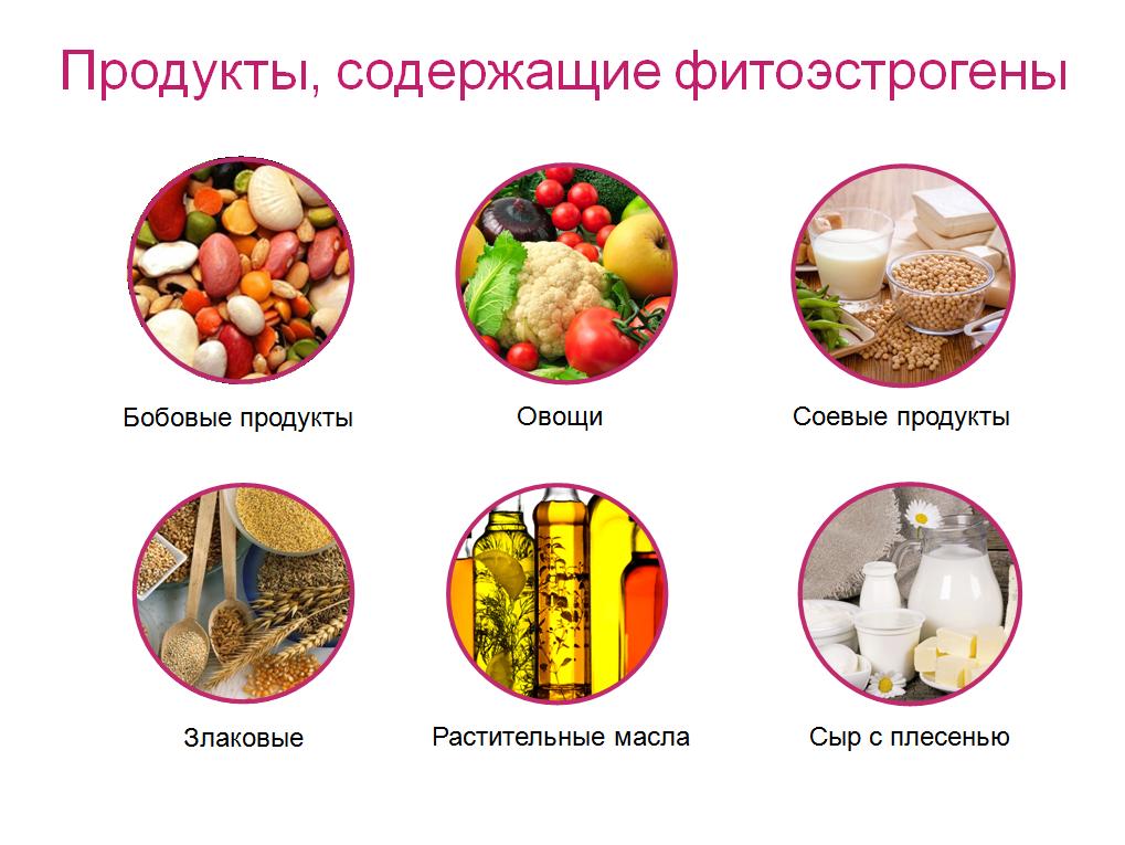 Таблица содержания эстрогенов в продуктах питания и травах