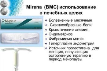 Использование Мирена в лечебных целях